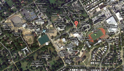 Google Satellite Image of Campus